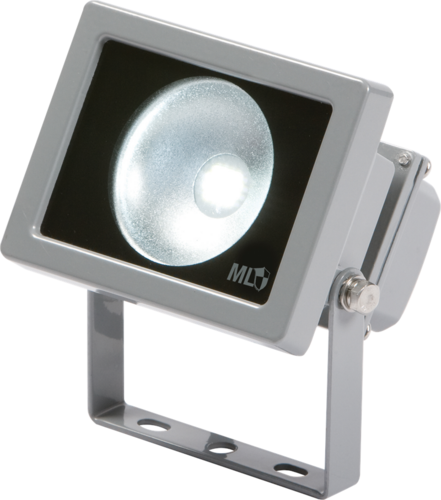 KnightsBridge IP65 Adjustable Low Energy LED Security FloodLight Grey Aluminium.  - Click to view a larger image