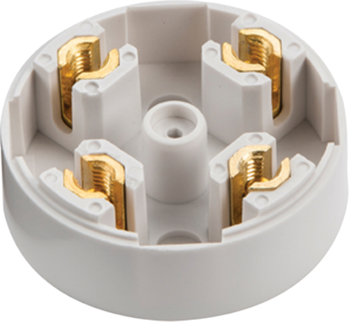 Zexum 20A 4 Terminal Small 60mm Plastic PVC Electrical Connection Junction Box  - Click to view a larger image