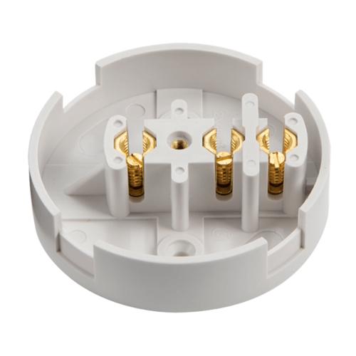 Zexum 30A 3 Terminal Plastic PVC Electrical Connection Junction Box