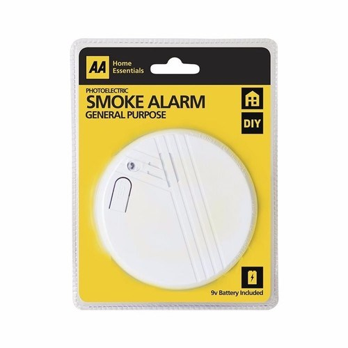 AA Photoelectric Smoke Alarm Safety Detector Battery Operated  - Click to view a larger image