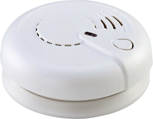 KnightsBridge Optical Smoke Alarm 230V Mains / 9V Back up Battery  - Click to view a larger image