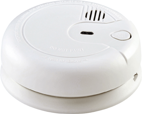 KnightsBridge Ionisation Electric Smoke Alarm 230V Mains / 9V  Back up Battery  - Click to view a larger image