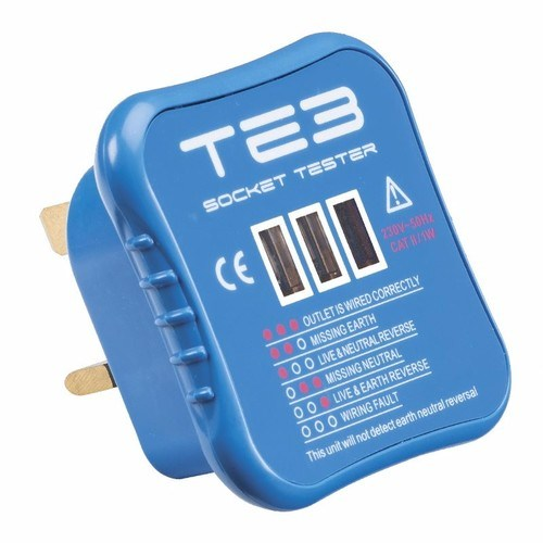 KnightsBridge BS1363 Socket Safety Electric Outlet Wiring Tester Tool KnightsBridge BS1363 Socket Safety Electric Outlet Wiring Tester Tool  - Click to view a larger image