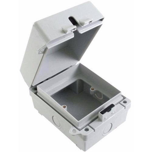 Eterna 1G IP65 Weatherproof Outdoor Switch Socket Accessory Box  - Click to view a larger image