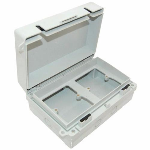 Eterna Dual 1 Gang IP65 Weatherproof Outdoor Switch Socket Accessory Box  - Click to view a larger image