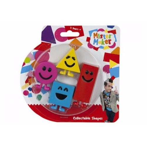 Mister Maker Set Of 4 Mister Maker Official CBeebies Collectible Shapes  - Click to view a larger image