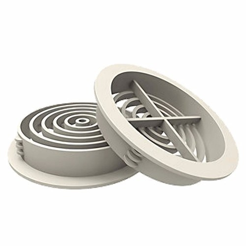 Manthorpe 70mm Round Roof Soffit Vent Ventilator  - Click to view a larger image
