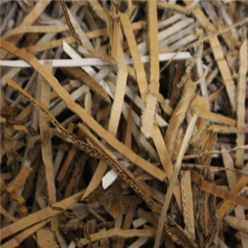 Zexum Clean Recycled Cardboard Shavings For Horse Bedding Packing  - Click to view a larger image
