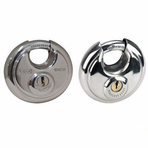 Kasp 160 Series High Security Stainless Steel Disc Padlock Heavy Duty  - Click to view a larger image