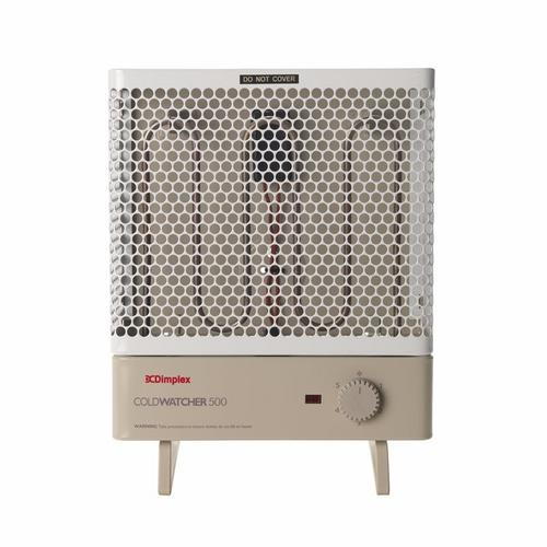 Dimplex 500W 0.5Kw Coldwatcher Splashproof Multi Purpose Portable Heater with Thermostat  - Click to view a larger image