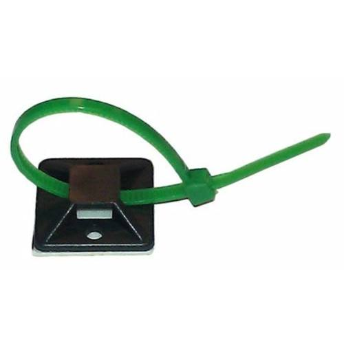 Zexum 19mm Self Adhesive Cable Tie Mounts - Pack of 100  - Click to view a larger image
