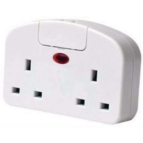 SMJ Twin European Plug to UK 3 pin Travel Adaptor With USB