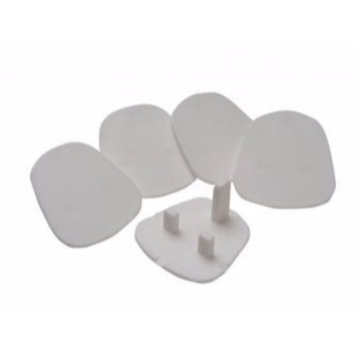 SMJ Pack of 5 UK 3 Pin Child Safety Blanking Plug Socket Cover Protecter
