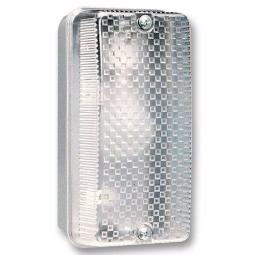 Eterna 100W IP65 BC B22d Aluminium Base Polycarbonate Diffuser Bulkhead  - Click to view a larger image