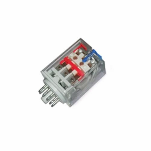 Greenbrook Plug-in 3 Pole 11 Pin 24V AC Industrial Round Terminal Relay  - Click to view a larger image