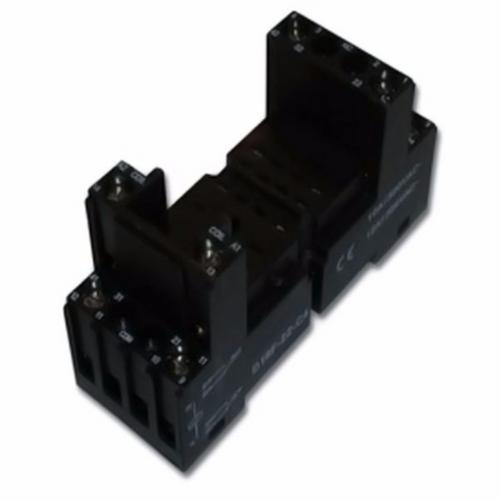 Greenbrook Square 8 pin DIN Rail base Round for Plug in 2 Pole Relay  - Click to view a larger image