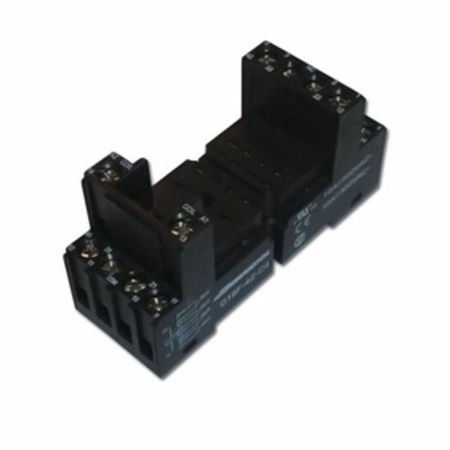 Greenbrook Square 14 pin DIN Rail base for Plug in 4 Pole Relay  - Click to view a larger image