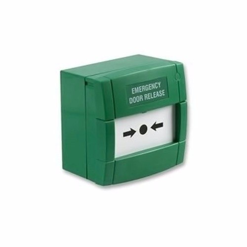 KAC Resettable Single Pole Green Call Point Emergency Door Release  - Click to view a larger image