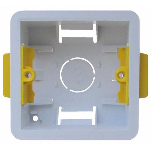 ESR 1 Gang 35mm Single Dry Lining Plasterboard Wall Mounting Back Box  - Click to view a larger image
