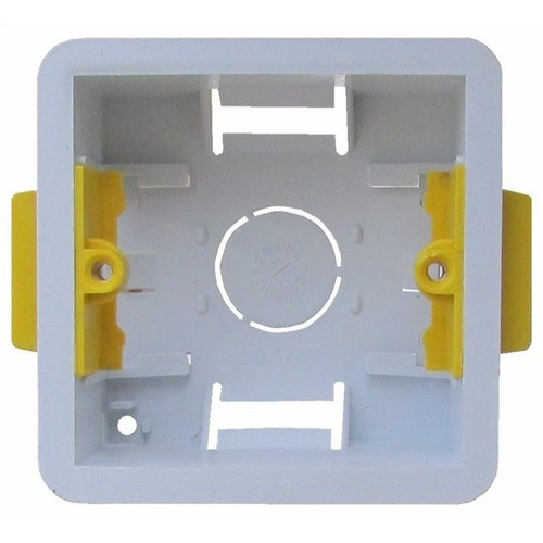 ESR 1 Gang 47mm Single Dry Lining Plasterboard Wall Mounting Back Box  - Click to view a larger image