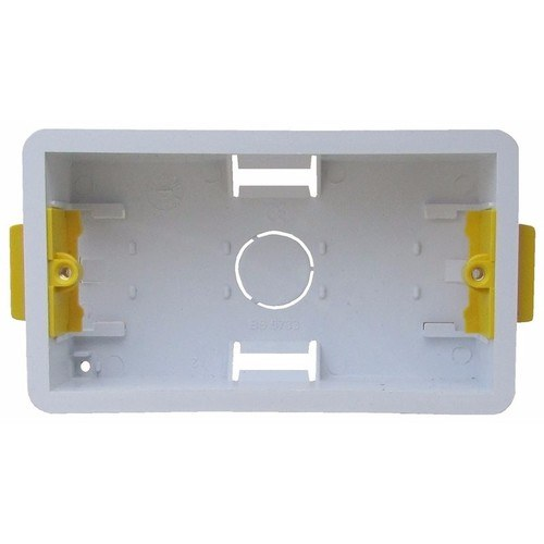 ESR 2 Gang 47mm Double Dry Lining Plasterboard Wall Mounting Back Box  - Click to view a larger image