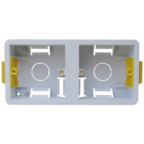 ESR 2 Gang 35mm Dual Dry Lining Plasterboard Wall Mounting Back Box  - Click to view a larger image