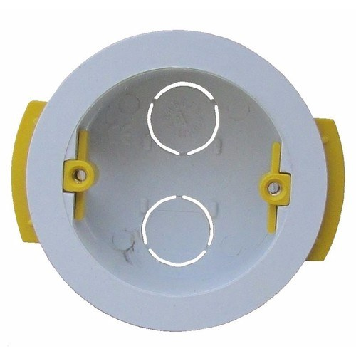 ESR 35mm Round Circular Lining Plasterboard Wall Mounting Back Box  - Click to view a larger image