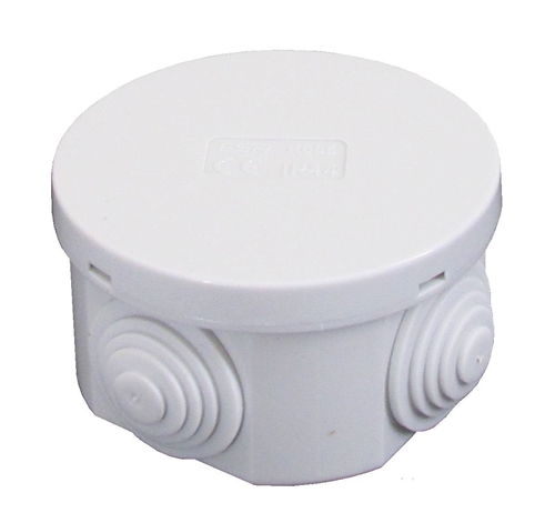 Compare cheap offers & prices of ESR 65mm IP44 Round PVC Junction Box with Knockouts - Grey manufactured by ESR