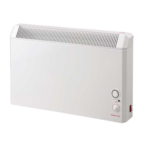 Elnur 0.75kW White Manual Electric Panel Heater 24 Hour Timer & Analogue Control  - Click to view a larger image