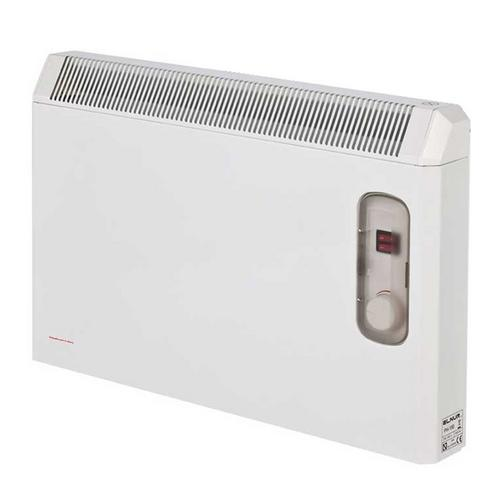 Elnur 0.75kW White Manual Electric Panel Heater with Enclosed Analogue Control  - Click to view a larger image
