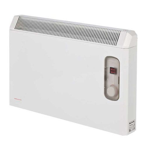 Elnur 2kW White Manual Electric Panel Heater with Enclosed Analogue Control  - Click to view a larger image