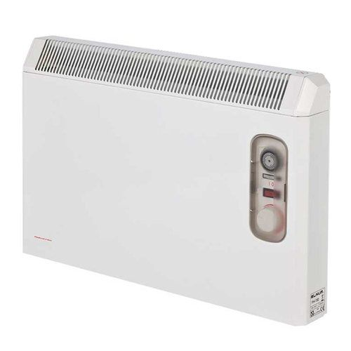 Elnur 1.5kW White Manual Electric Panel Heater 24 Hour Timer & Enclosed Analogue Control  - Click to view a larger image
