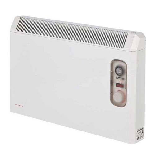 Elnur 2kW White Manual Electric Panel Heater 24 Hour Timer & Enclosed Analogue Control  - Click to view a larger image