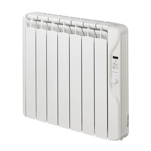 Elnur 0.75kW Small 24 Hour Digital 7 Module Oil Filled Electric Panel Radiator Heater  - Click to view a larger image