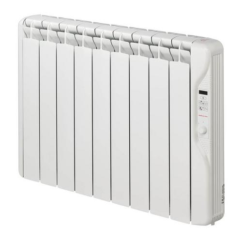 Elnur 1kW Small 24 Hour Digital 9 Module Oil Filled Electric Panel Radiator Heater  - Click to view a larger image