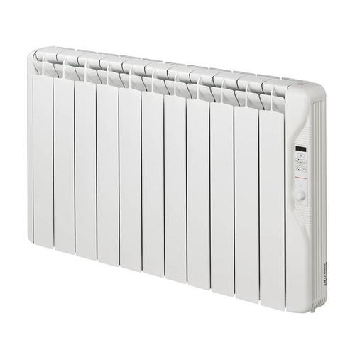 Elnur 1.25kW Small 24 Hour Digital 11 Module Oil Filled Electric Panel Radiator Heater  - Click to view a larger image