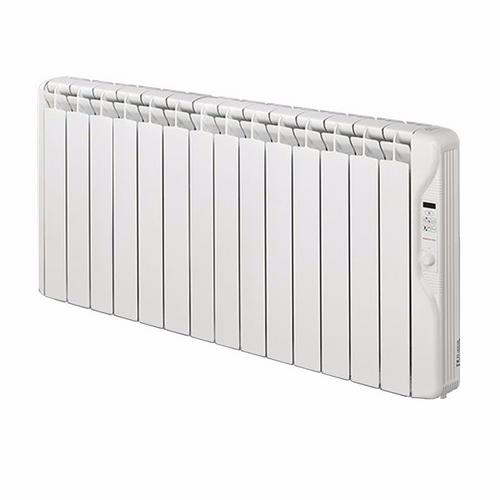 Elnur 1.5kW Small 24 Hour Digital 14 Module Oil Filled Electric Panel Radiator Heater  - Click to view a larger image