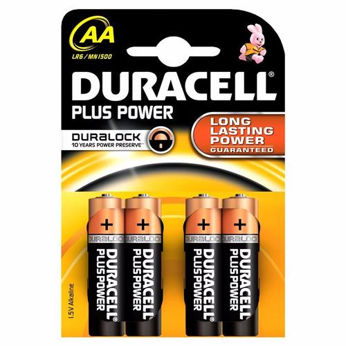 Duracell Plus Power Duralock AA LR6 Block Alkaline Battery  4 Pack