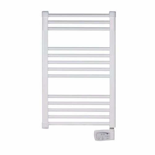 Elnur 300W White Heated Towel Rail With Digital Thermostat & Boost Control  - Click to view a larger image