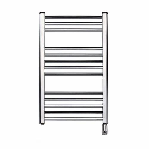 Elnur 300W Chrome Heated Towel Rail With Thermostat & Manual Temperature Selector  - Click to view a larger image