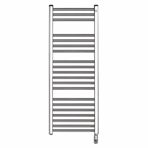 Elnur 500W Chrome Heated Towel Rail With Thermostat & Manual Temperature Selector  - Click to view a larger image