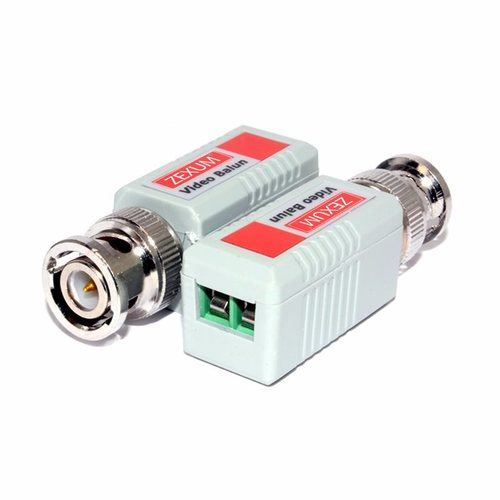 Zexum BNC Passive Video Balun Pair For CCTV Over LAN Ethernet Network Cable  - Click to view a larger image