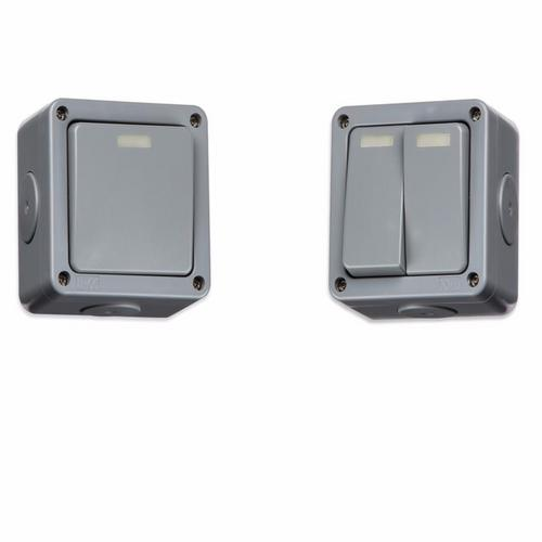 KnightsBridge 10A 2 Way IP66 Weatherproof Outdoor Switch  - Click to view a larger image