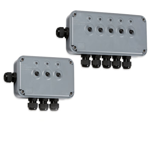 KnightsBridge IP66 Weatherproof Outdoor Push Switch Box with Neon  - Click to view a larger image