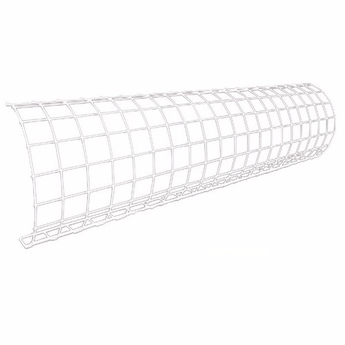 Eterna White Wire Rounded Tubular Heater Guard Protection  - Click to view a larger image