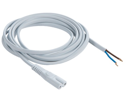 KnightsBridge 2m Power Cord Cable For Powering Ultra Slim LED Striplight  - Click to view a larger image