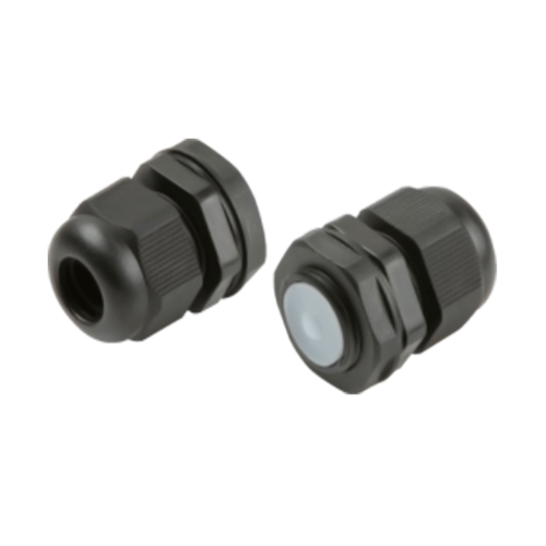 KnightsBridge IP66 20mm M20 Black Cable Gland for 6-12mm Cable  - Click to view a larger image