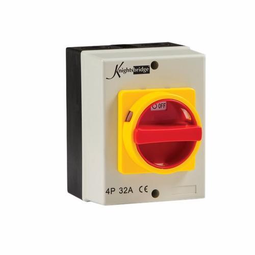 KnightsBridge 32A 4 Pole 230V-415V IP65 Industrial Rotary Isolator 32A 4 Pole 230V-415V IP65 Industrial Rotary Isolator