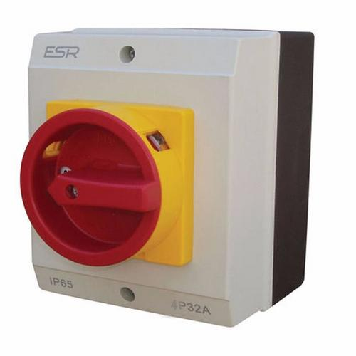 ESR 20A 4 Pole 230V-415V Medium IP65 Industrial Rotary Isolator  - Click to view a larger image