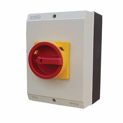 ESR 63A 3 Pole 230V-415V Large IP65 Industrial Rotary Isolator  - Click to view a larger image